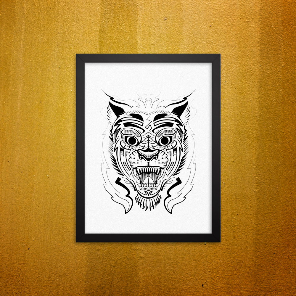 Chinese Tiger Framed Wall Picture