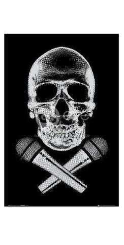 PIRATE ~ SKULL AND CROSS BONES ~ 24x36 FANTASY ART POSTER ~ Death NEW//ROLLED!