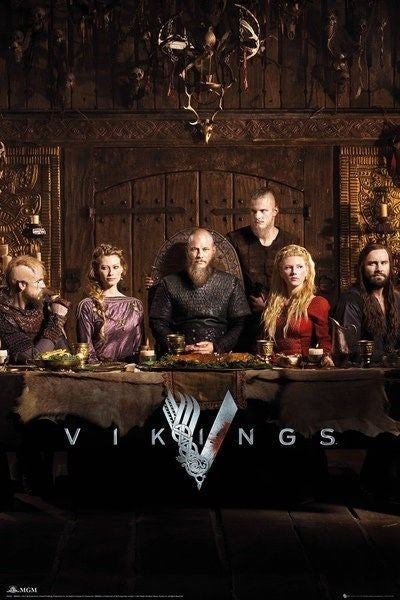 24x36 Vikings History Poster Cast of Characters