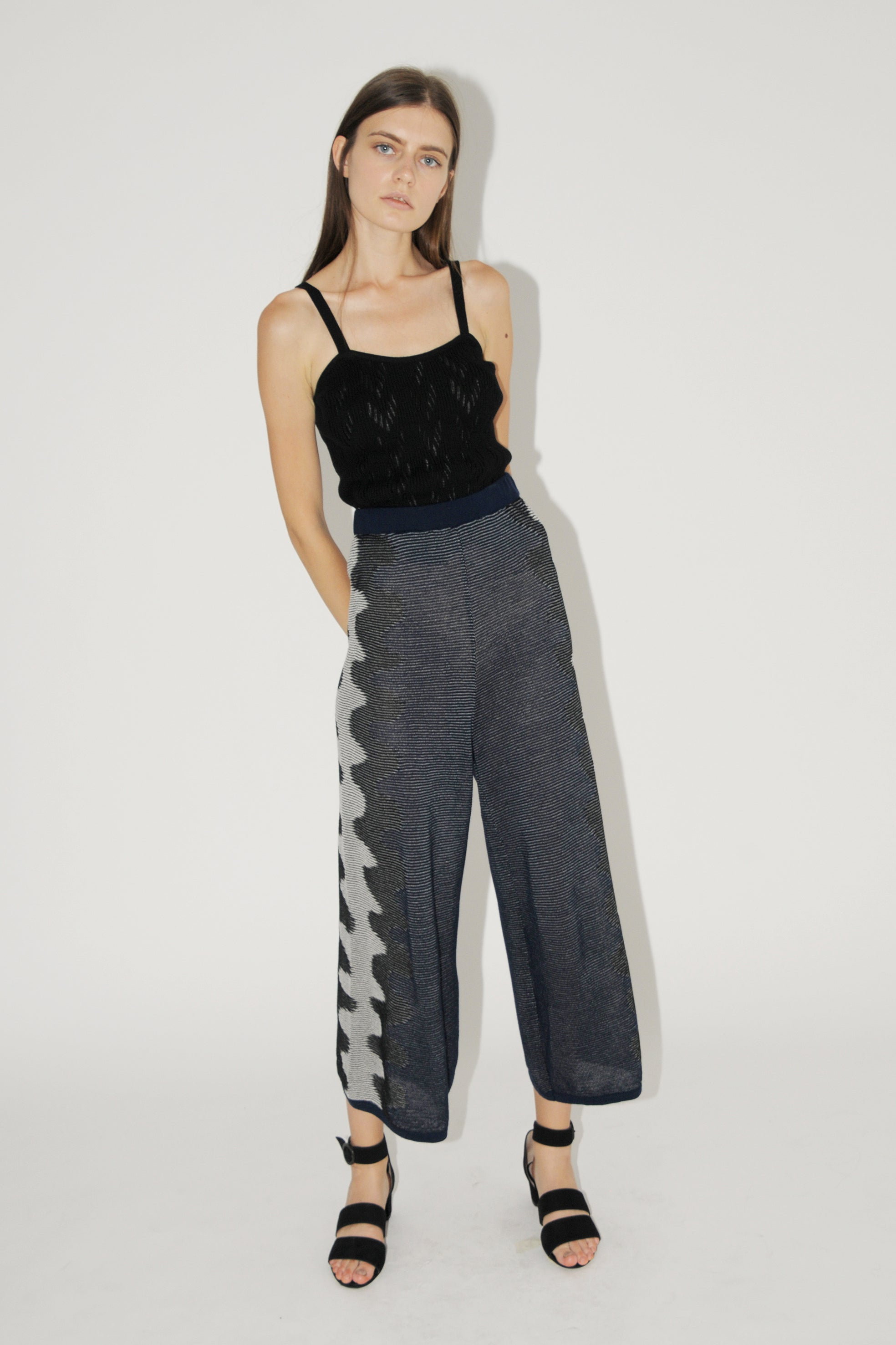 Diarte Dalila Navy + Black Trousers