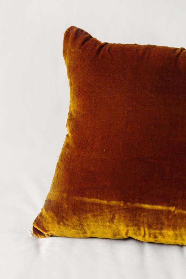 Elizabeth Hales Design Silk Velvet Pillow