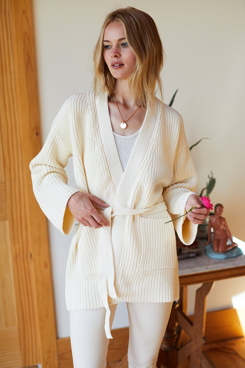 Emerson Fry Organic Ribbed Wrap Sweater