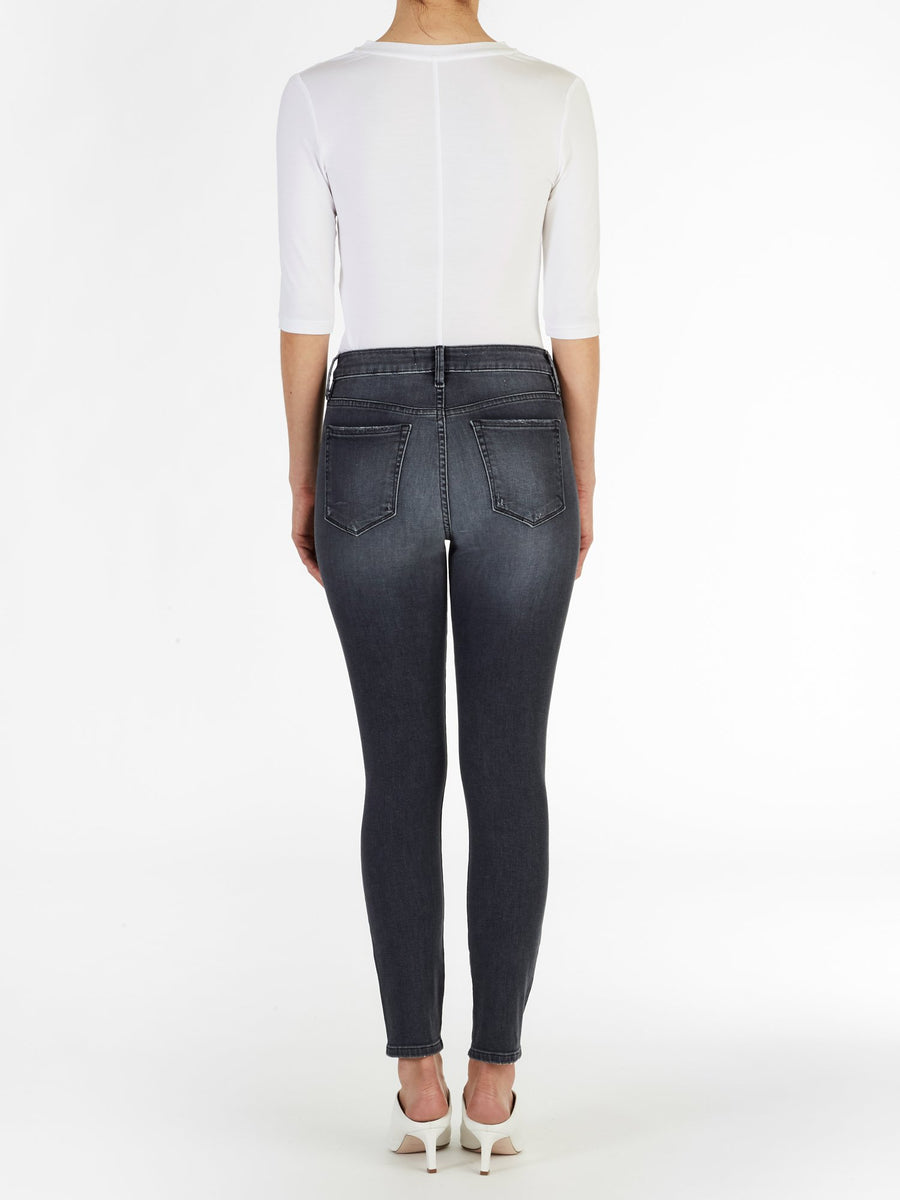 High Rise Skinny Jeans - Black Vintage Wash