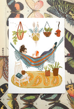 Hammock Reading Illustration Print