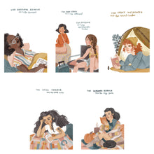Book Lover Ladies Postcard Sets