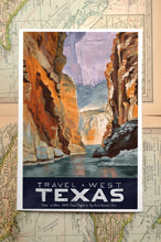 Travel West State Poster Prints: Arizona, New Mexico, Colorado, Utah, Texas, California