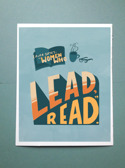 Women Who Read // Illustrated Lettering Print