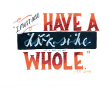 dark side quote lettering illustration cg jung