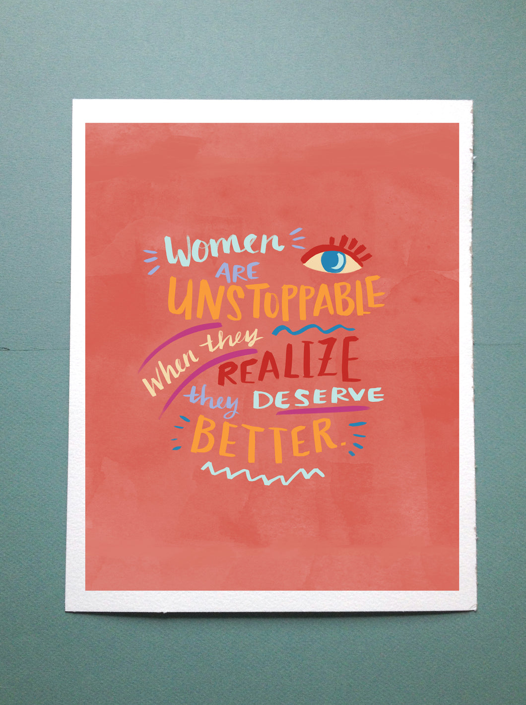Women Are Unstoppable // Illustration Lettering Print