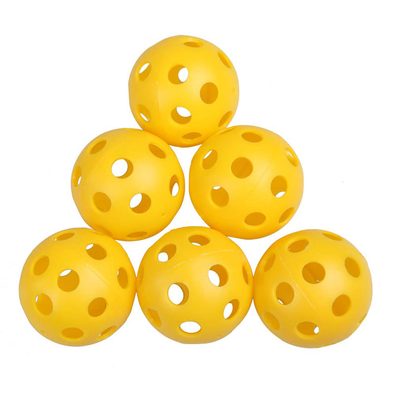 50Pcs Plastic Whiffle Airflow Hollow Golf Balls