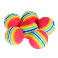 6Pcs/Pack Rainbow Stripe FOAM Sponge Golf Balls