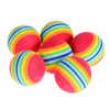 Image of 6Pcs/Pack Rainbow Stripe FOAM Sponge Golf Balls