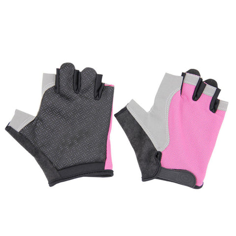 Half Finger Breathable Soft Fabric Golf Glove For Left Hand