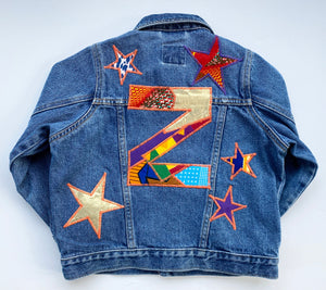 Bespoke Kids Letter and Stars Personalised Up-cycled Jacket