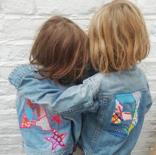 Personalised One of a kind Bespoke Kids Denim Letter and Stars Up-cycled Jacket- Customised to your requirements