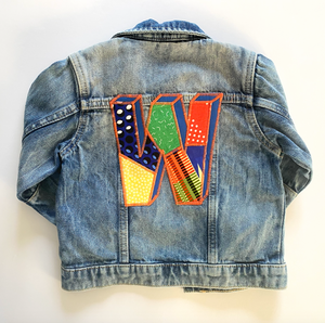 *NEW* 3D Personalised One of a kind Letter Bespoke Kids Up-cycled Denim Jacket - Customised to your requirements