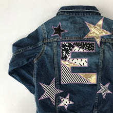 Custom Request Kids Letter and Stars Up-cycled Jacket