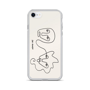 ABSTRACT FACES iPHONE CASE