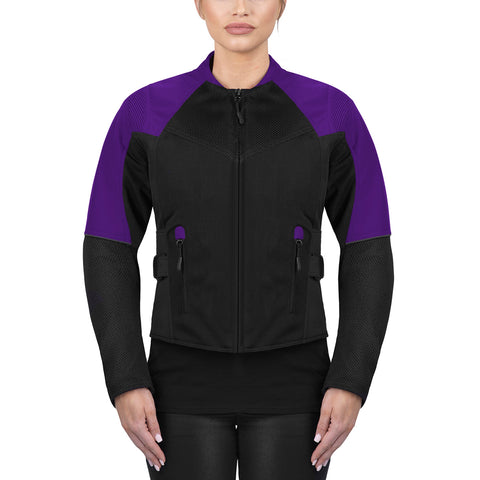 Viking Cycle Freedom Black/Purple Textile Motorcycle Jacket For Women