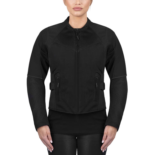 Viking Cycle Freedom Black/Black Textile Motorcycle Jacket For Women