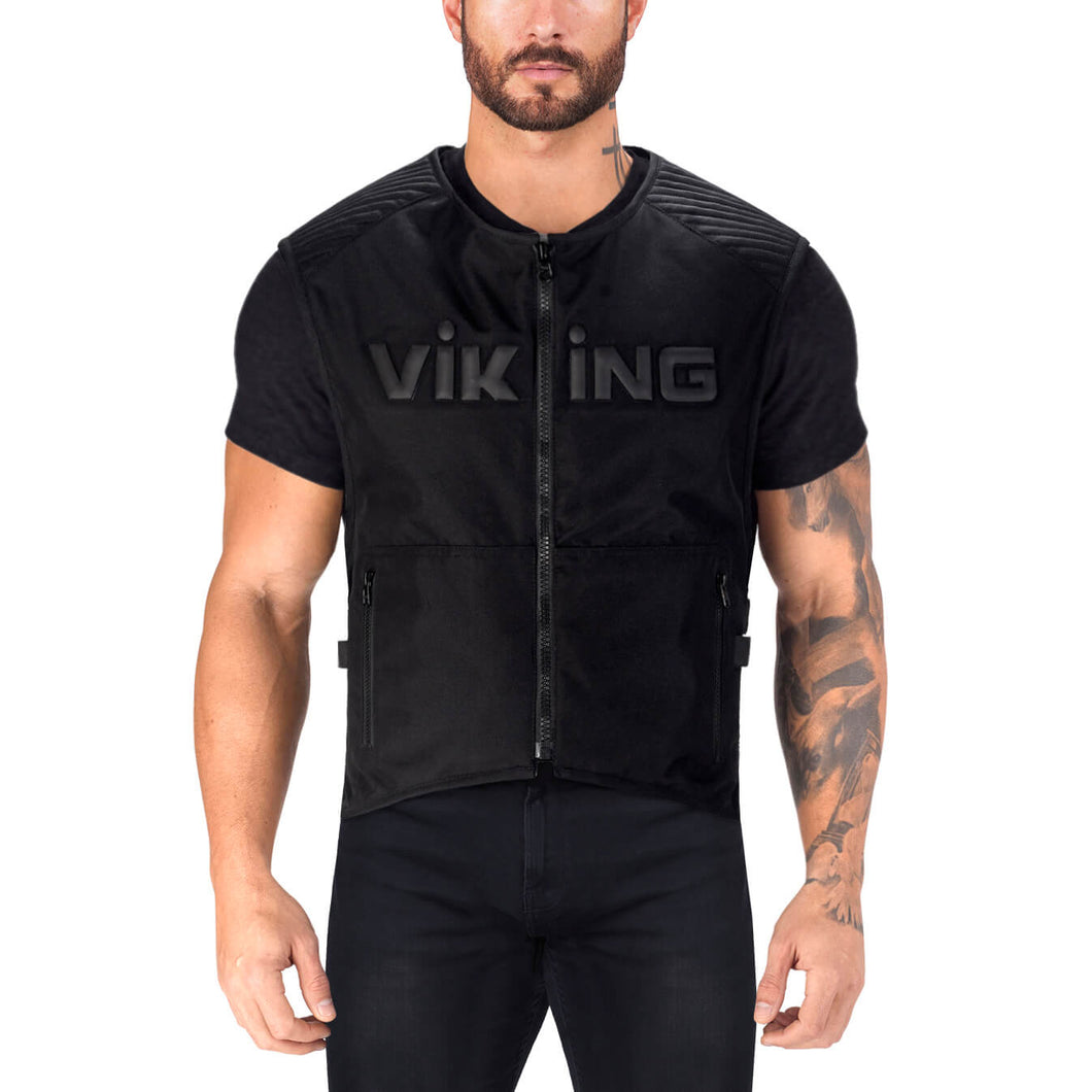 Viking Cycle Warhawk Armored Textile Motorcycle Vest for Men