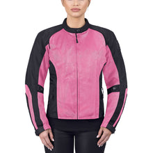 Viking Cycle Warlock Pink Mesh Motorcycle Jacket for Women