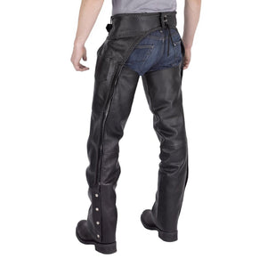 Viking Cycle Braided Motorcycle Leather Chaps