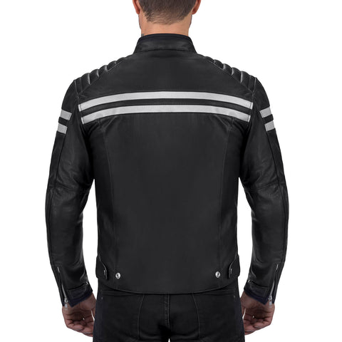 Viking Cycle Bloodaxe Black Leather Motorcycle Jacket for Men