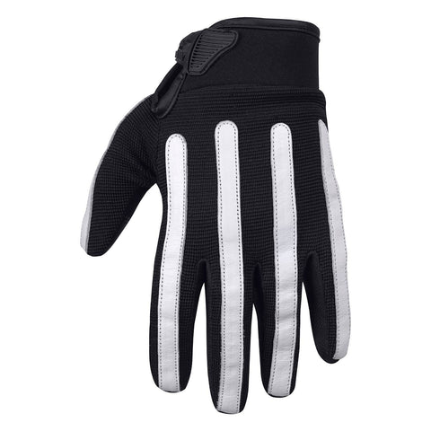 Viking Cycle Panache Riding Black/White Textile Motorcycle Gloves for Women