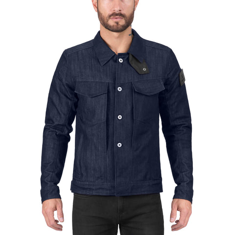 Viking Cycle Blue Denim Motorcycle Riding Over Shirt for Men