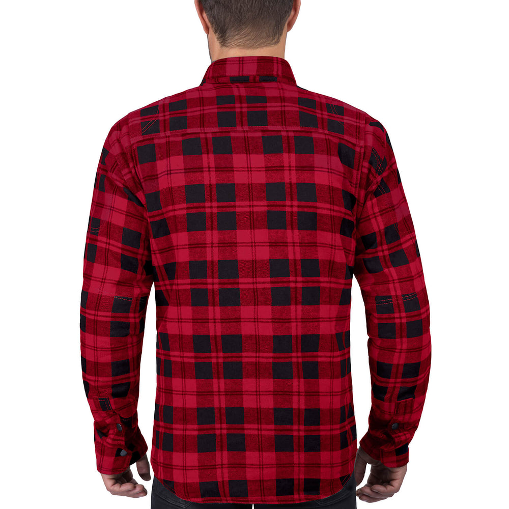 Viking Cycle Red Textile Motorcycle Flannel Shirt for Men