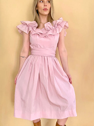 Ruffle Pink Party Dress