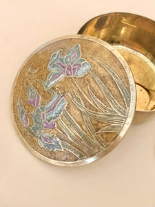 Floral Cloisonné Jewelry Box