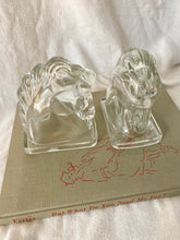 Load image into Gallery viewer, Mid-Century Glass Horse Bookends