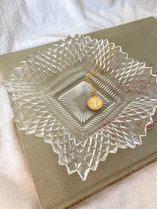 Clear Glass Ruffle Dish