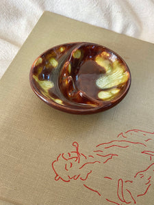 Mid-Century Drip Glaze Ashtray