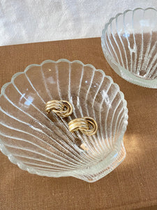 Frosted Glass Shell Dish