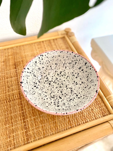 Splatter Paint Ceramic Bowl