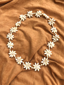 Cowrie Shell Flower Lei Necklace