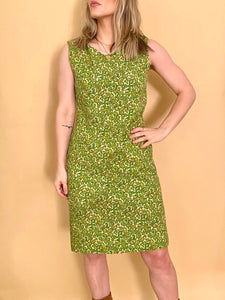 Green Paisley Shift Dress