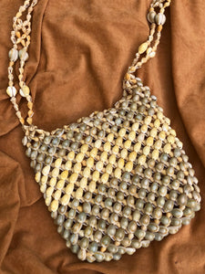 70s Cowrie Shell Purse
