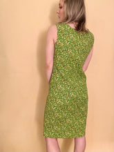 Load image into Gallery viewer, Green Paisley Shift Dress