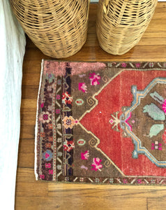 Mid-Century Bohemian Floral Accent Rug