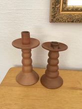 Load image into Gallery viewer, Handmade Terra-Cotta Candle Holders