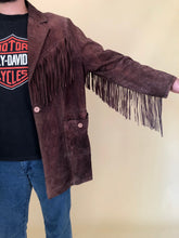 Load image into Gallery viewer, Vintage 70s Western Style Suede Fringe Jacket