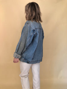 90s Oversized Light Wash Denim Jacket