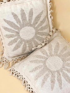70s Sun & Woven Fringe Pillows