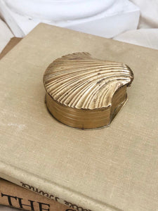 Brass Clam Shell Trinket Box