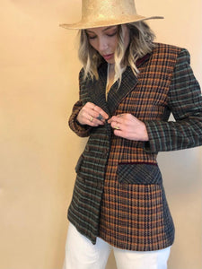 Multi Plaid Blazer