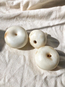 Matte White Alabaster Fruit